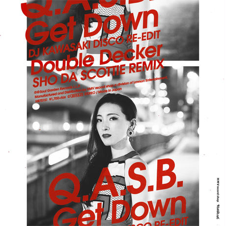 "【予約】[HR7S151] Q.A.S.B.-Get Down (DJ KAWASAKI DISCO RE-EDIT)/Double Decker (SHO DA SCOTTIE REMIX)(7"")"