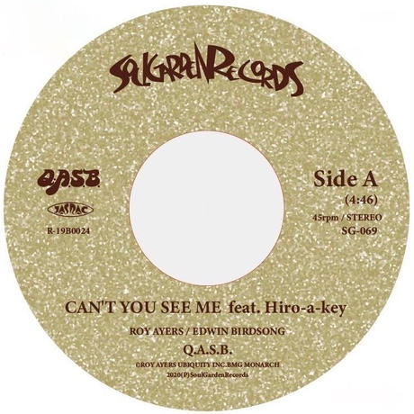 """[SG-069] Q.A.S.B. - Can't You See Me feat. Hiro-a-key / I'm In Love (7"""")"""
