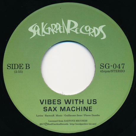 "[SG-047] SAX MACHINE - FUNKPUNK /  VIBES WITH US (7"" Vinyl)"