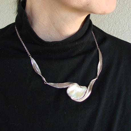 蜜蝋淡水真珠ネックス