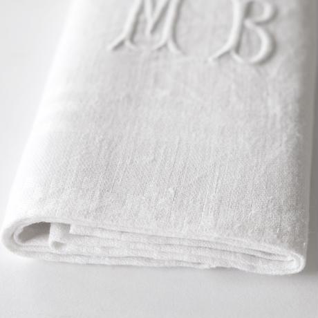 [MBモノグラム刺繍] リネン   (KC24)    1枚