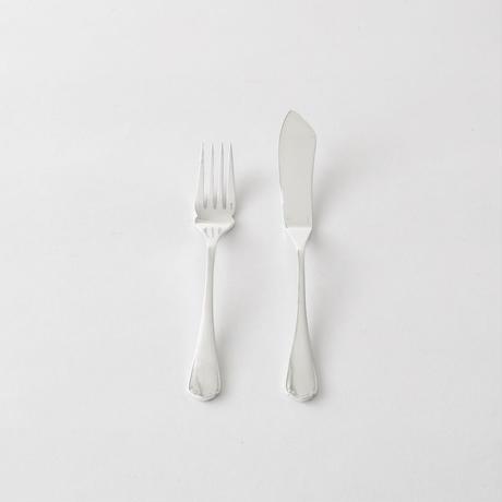 [Christofle] フィッシュナイフ / フォーク  モノグラム   (FKFF6)    1本