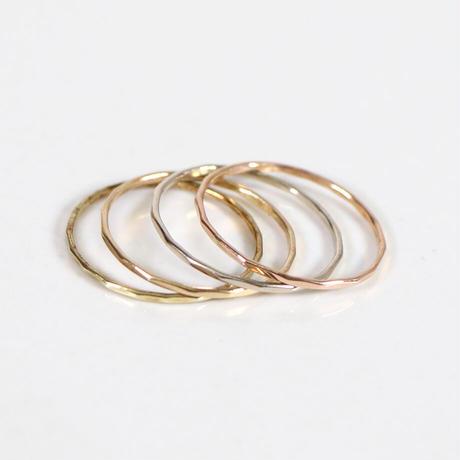 "SOURCE(ソース)""Melissa Joy Manning / Gold Stacking Rings 4pieces Set(#9)"""