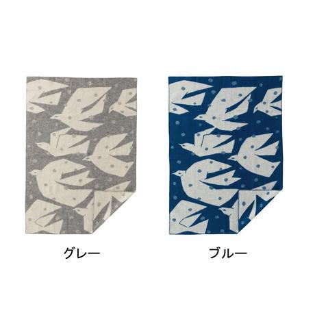 "KLIPPAN""ウールブランケット シングル / TRIP(ブルー)"""