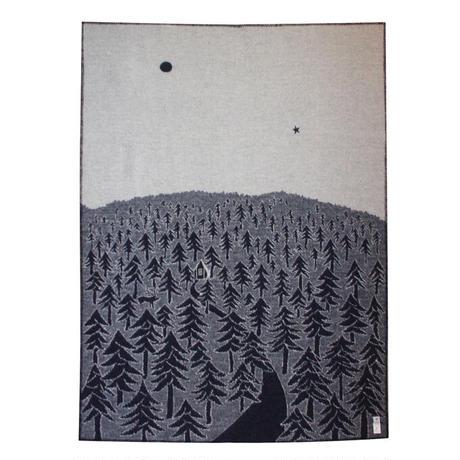 """KLIPPAN""""ウールブランケット シングル / HOUSE IN THE FOREST(ネイビー)"""""""