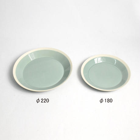 """イイホシユミコ×木村硝子店""""dishes plate220(pistachio green)"""""""