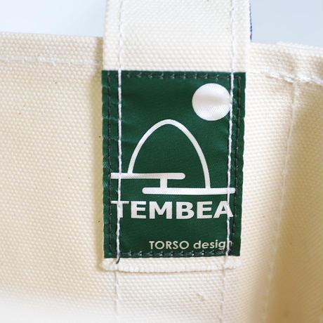 "TEMBEA(テンベア)""BAGUETTE TOTE / バゲットトート S(NATURAL/NAVY)"""