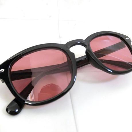 ライトカラー ラウンドサングラス RED