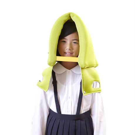 p!nto school 姿勢が良くなる防災頭巾学校用(イエローグリーン)