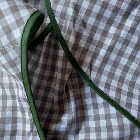 グレーギンガムチェック×ダークグリーン Lサイズ