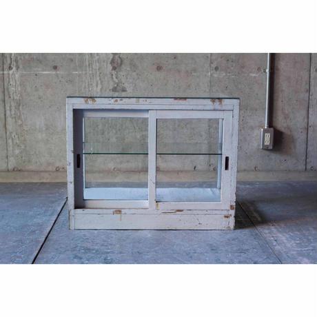 木枠ガラスショーケース(グレー)