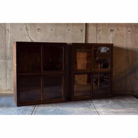 ガラス戸棚(2ヶset)