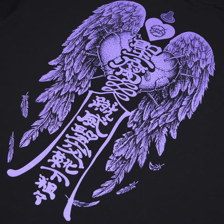 SAFE S◯X Tシャツ👁black/purple