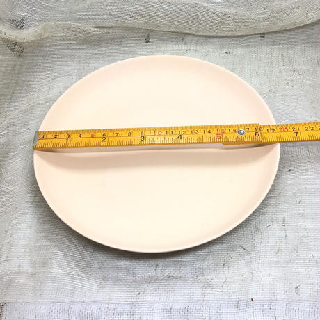 素焼き生地 平皿焼き上がり6寸