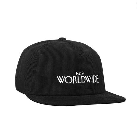 HUF ARCHIVE STRAPBACK HAT BLACK