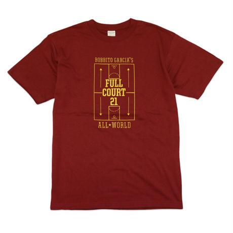 FULL COURT 21™ TOKYO GAME T-Shirts (Burgundy / Yellow)