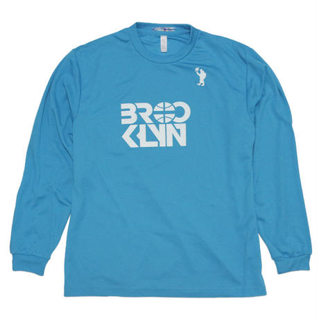 BROOKLYN Dri Long Sleeve T-Shirt (Turquoise / White)