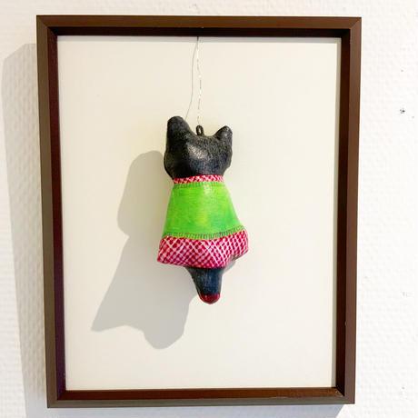 島袋千栄 カベドール「おしゃれ黒猫」shimabukuro chie