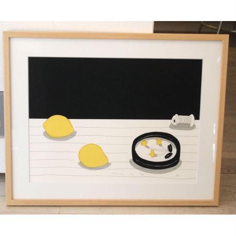 安西水丸「レモンと糸巻き」