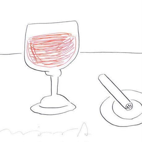 安西水丸「ワイングラス」