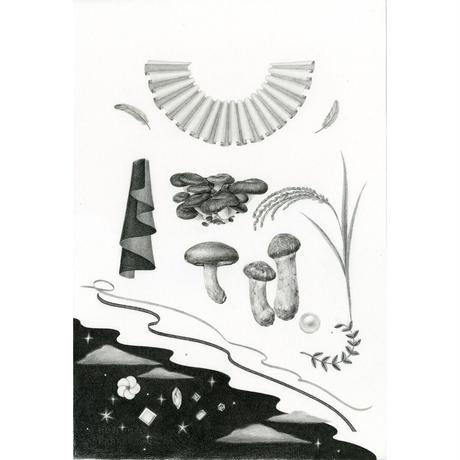 河井いづみ「秋の女王」  izumi kawai  原画