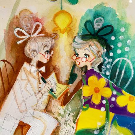 田村セツコ「どうされましたか?」原画  tamura setsuko