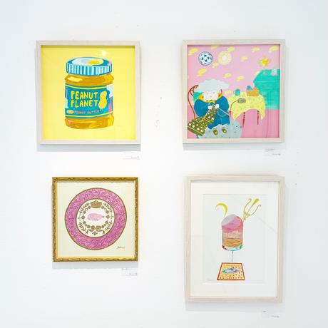 藤本巧「マンボウ好きのおばあちゃん」原画