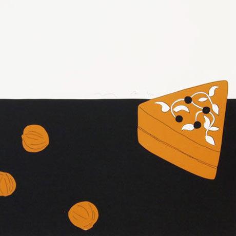 安西水丸「木の箱とクルミ」