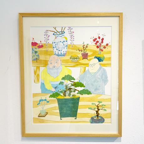 藤本巧「盆栽」原画