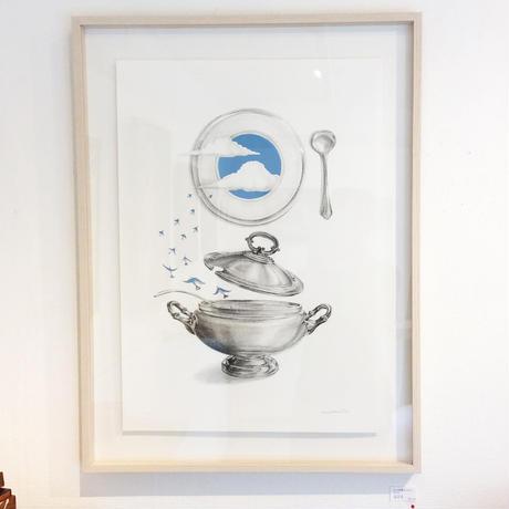 河井いづみ「スープの彼方 / ブルー The other side of the soup」  izumi kawai