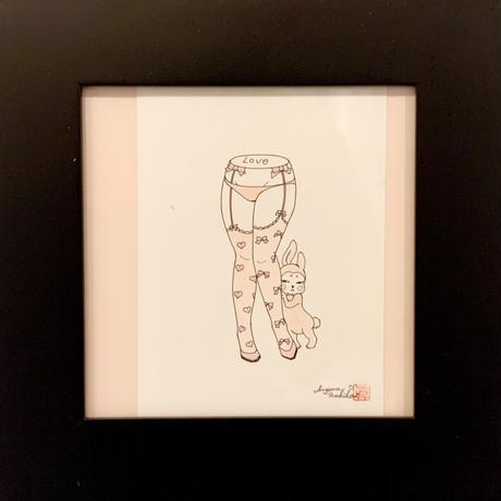須川まきこ「love 」原画 sugawa makiko