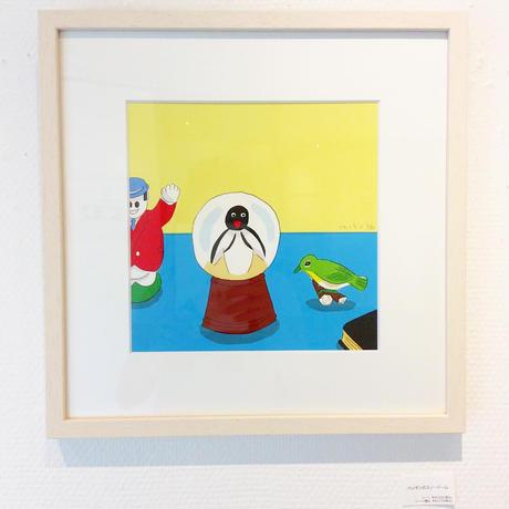 安西水丸「ペンギンのスノードーム」  mizumaru anzai