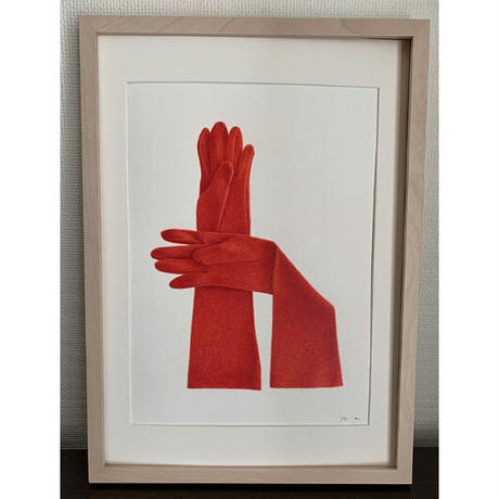 門川洋子「Red Cashmere Gloves」(原画)