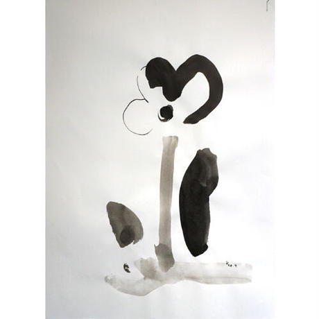 手島加江「なかなかの花」(原画)tejima kae