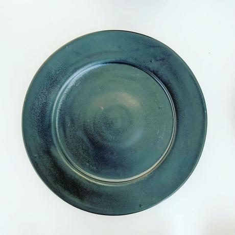 高橋春夫「黒釉リム皿」