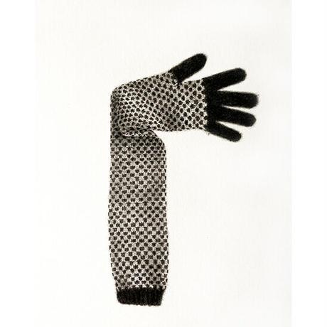 門川洋子「ChecKer Long Glove-c」(原画)