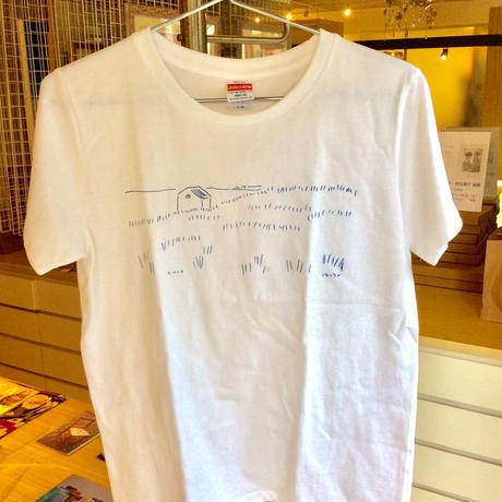 安西水丸Tシャツ「ブルースケッチ」  柄