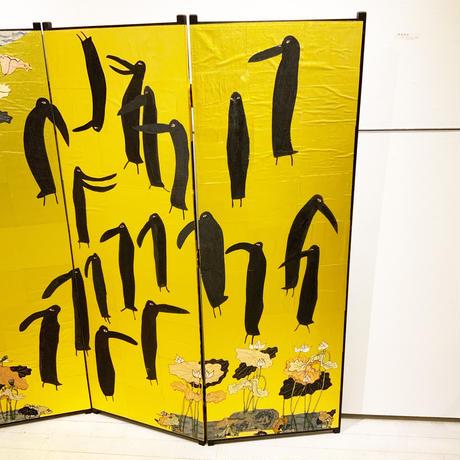 松川けんし「鴉蓮根図」matsukawa kenshi