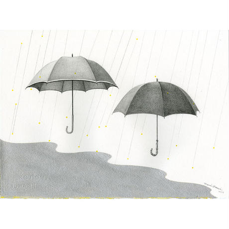 河井いづみ「銀色のリズム」  izumi kawai  原画