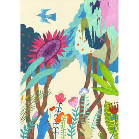 藤本巧「青い鳥」原画