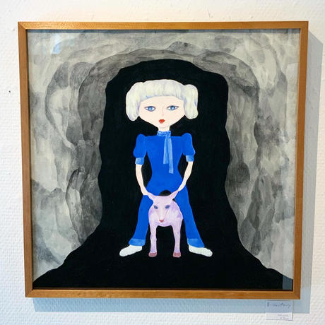 中村幸子「青いジャンプスーツ」  原画作品