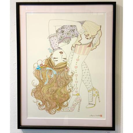 須川まきこ「待ちびと」原画 sugawa makiko