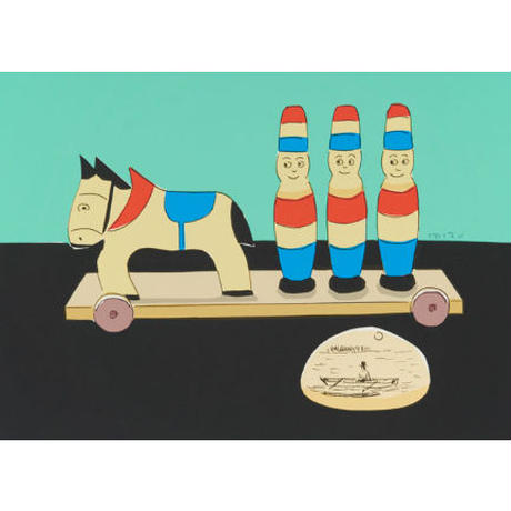 安西水丸「木馬の玩具」  mizumaru anzai