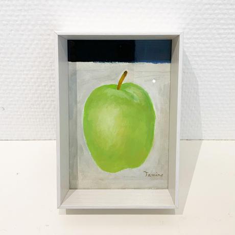 民野宏之 「青りんご」  水彩画