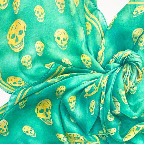 門川洋子「AM- Skull Scarf」(原画)