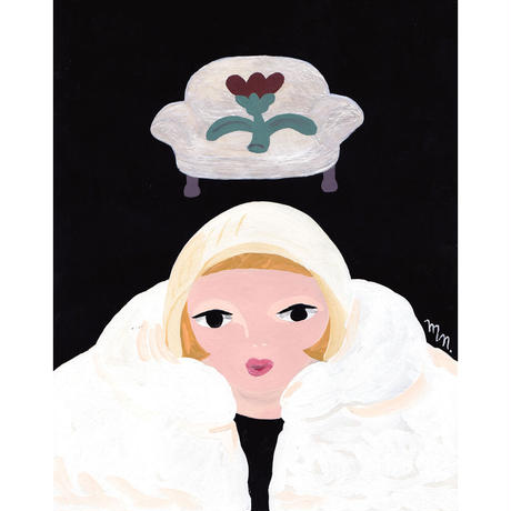 中村桃子「冬、街にいるソファのような女の子は、かわいい」  原画