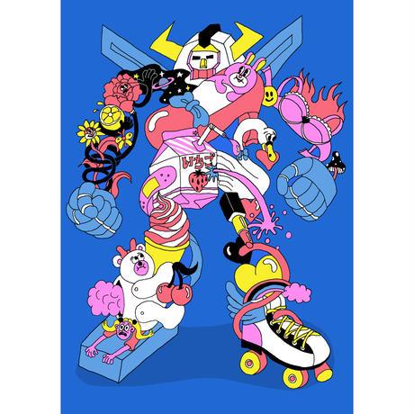 山崎若菜「Throwback Robot」ジークレー版画 yamazaki wakana