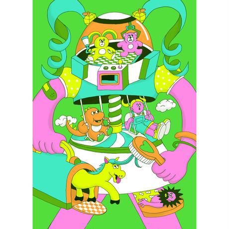山崎若菜「Child hood」ジークレー版画 yamazaki wakana