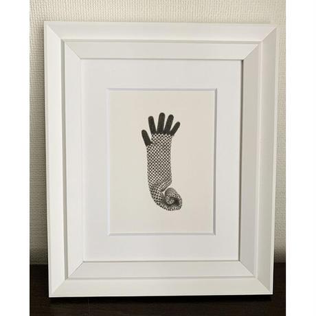 門川洋子「ChecKer Long Glove-a」(原画)
