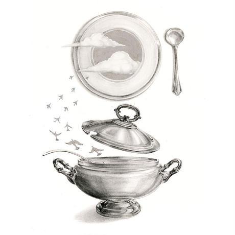 河井いづみ「スープの彼方 / シルバー The other side of the soup」  izumi kawai